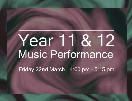 Year 11/12 Music Performance
