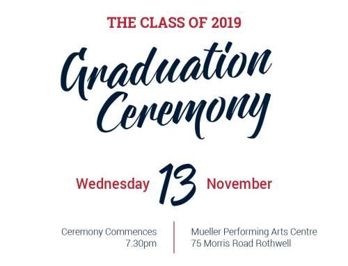 Year 12 Graduation Details