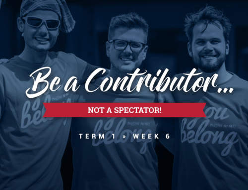 Be a CONTRIBUTOR, not a SPECTATOR